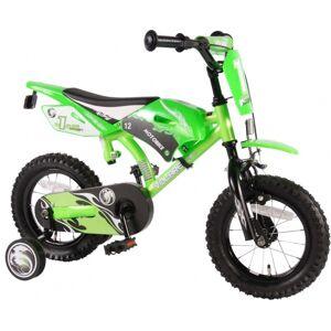 Volare Motobike 12 Inch 21,5 cm Jongens Knijprem Groen