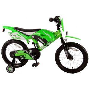 Volare Motobike 16 Inch 25,5 cm Jongens Terugtraprem Groen