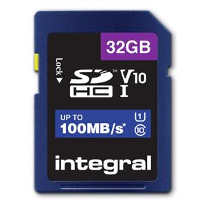 Integral Secure Digital kaart 32GB SDHC V10