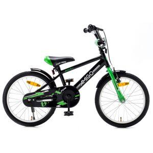 AMIGO BMX Fun 18 Inch 24 cm Jongens Terugtraprem Zwart/Groen