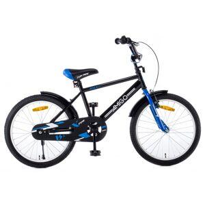 AMIGO BMX Fun 20 Inch 31 cm Jongens Terugtraprem Zwart/Blauw