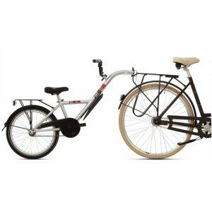 Bike2go Aanhangfiets 20 Inch 42 cm Junior Zilver
