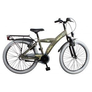 Bike Fun Camouflage 24 Inch 39 cm Jongens 3V Terugtraprem Legergroen