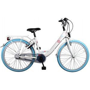 Bike Fun Pure 24 Inch 38 cm Meisjes 3V Terugtraprem Wit/Blauw