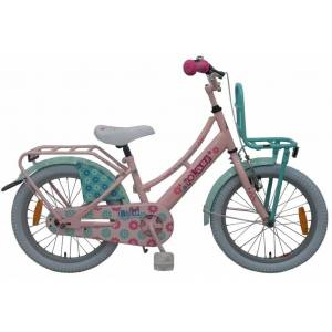 Volare Ibiza 18 Inch 28 cm Meisjes Terugtraprem Roze/Groen