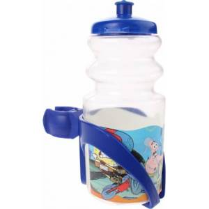 Widek bidon met bidonhouder SpongeBob 330 ml transparant/blauw