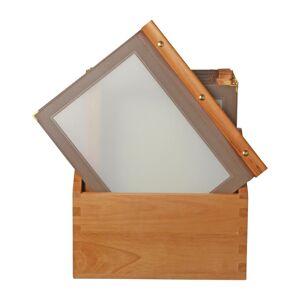 Securit menumappen set met houten box A4 bruin - 20