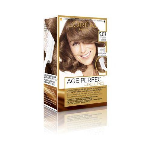Loreal Haarkleuring Age Perfect - 5.03 Goudbruin (1set)
