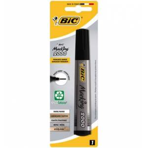 Bic Permanent Marker Zwart Blister (1st)