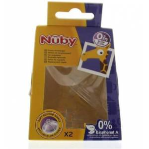Nuby Replacement Nipple Slow Flow (2st)