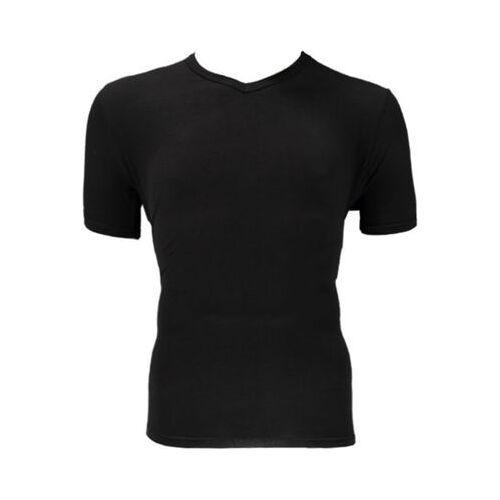 Bamboo Bamboe T-shirt V Hals Zwart M (2st)