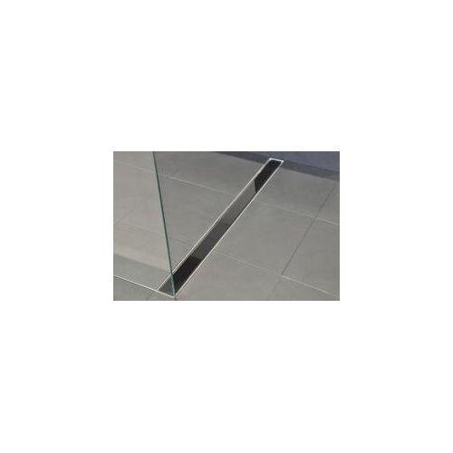 Wiesbaden Glasrooster zwart 50x7 tbv RVS douchegoot