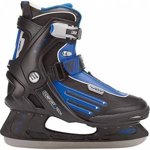 Nijdam semi-softboot ijshockeyschaatsen zwart 41