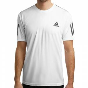 adidas Club 3-Stripes T-shirt Heren  - wit