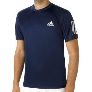 adidas Club 3-Stripes T-shirt Heren  - donkerblauw