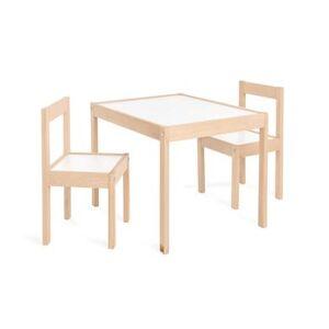 Pinolino tafel en stoel set Olaf 3 delig natuur wit