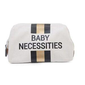 CHILDHOME Baby Necessities Toillettas cremewit strepen zwart/goud