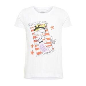 name it Girl s T-Shirt Violet helder wit