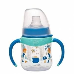 NIP Babyfles PP Boy 150 ml Kobold Boy met brede speen.