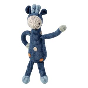 Pebble Rammelaar – organic Giraf blauw