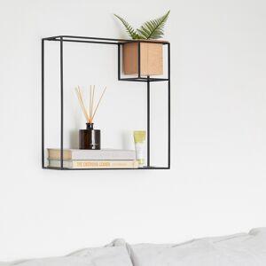 Home24 Open wandkast Cubist I, home24  - Zwart