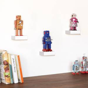 Home24 Wandplanken Showcase (set van 3), Umbra  - Wit