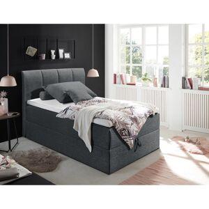 Home24 Gestoffeerd bed Lofou, home24  - Zwart