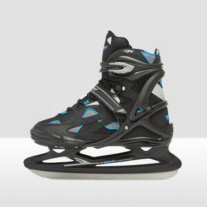 NIJDAM Proline semisoft ijshockey schaatsen zwart/blauw Dames