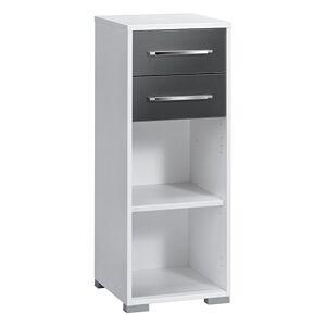 Bermeo Boekenkast Jones mini - Wit met hoogglans grijs