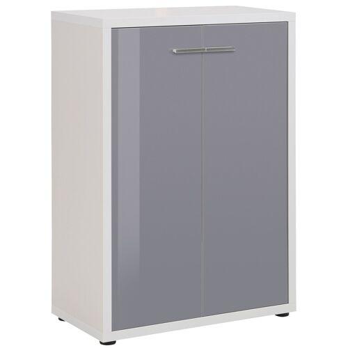 Bermeo Opbergkast Banco 110 cm hoog - Platina grijs met grijs