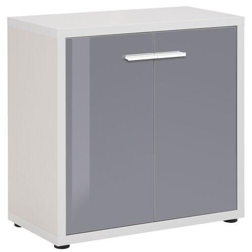 Bermeo Opbergkast Banco 77 cm hoog - Platina grijs met grijs