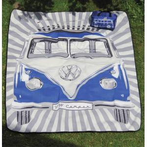 VW Volkswagen Picnic Blanket Blue