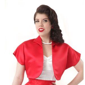 Duchess Satin Bolero Rood