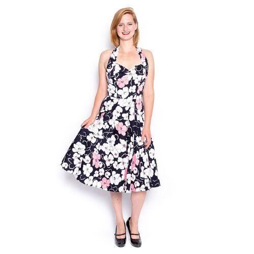 Zwart/ Roze Bloemen Jurk - XS (Gebruikt)