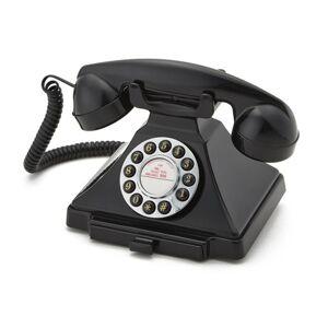 GPO Drukknoppen Bakeliet '20 Ontwerp Telefoon Zwart