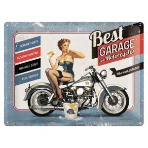 Best Garage For Motorcycles Metalen Bord - 30 x 40 cm