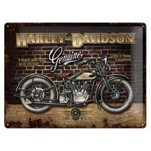 Harley-Davidson Brick Wall Metalen Bord 30 x 40 cm