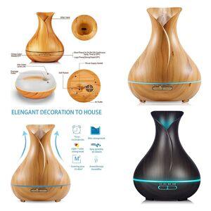 Aroma Diffuser Luchtbevochtiger LED Afstandsbediening - Lichte hout look