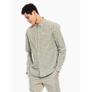 garcia overhemd geblokt groen p01230