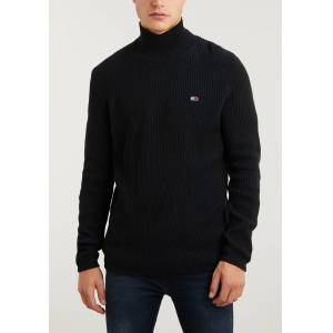 Tommy Jeans TJM High Mock Sweat  - Zwart - Size: Medium