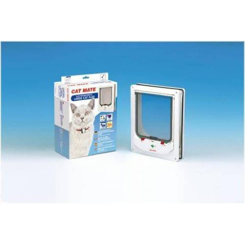 Catmate kattendeur elektromagnetisch 256 - kattenluik - wit - groot