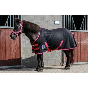 DKR Sports Mini Fleecedeken met singels  - black/fuchsia - Size: 125