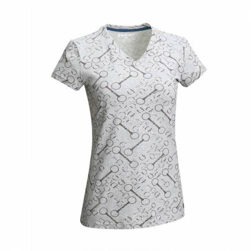 Ariat Snaffle T-shirt  - light heather grey - Size: Small