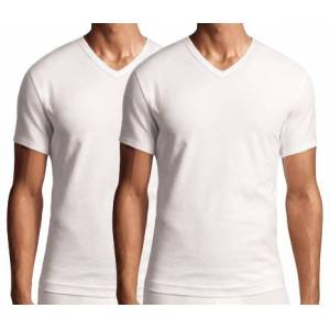 Calvin Klein V-shirt modern cotton 2-Pak  - Wit - Size: Medium