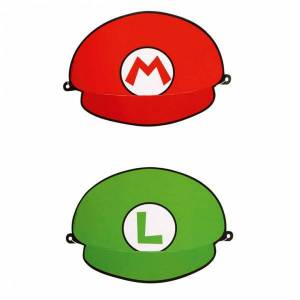 Feest hoedjes Super Mario 8 stuks