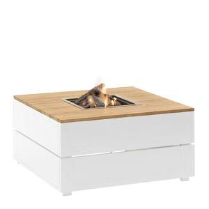 Cosi Fires Cosipure 100 frame aluminium wit -teak top