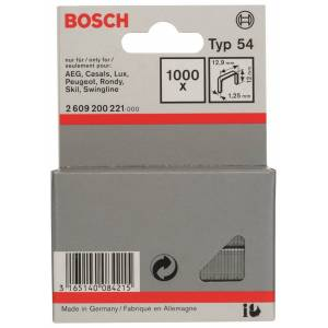 Bosch 2609200221 Type 54 Niet met platte draad - 12,9x1,25x12mm (1000st)