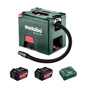 Metabo AS 18 L PC Li-Ion accu alleszuiger / bouwstofzuiger set (2x 5,2Ah accu) - L-Klasse - 7,5L