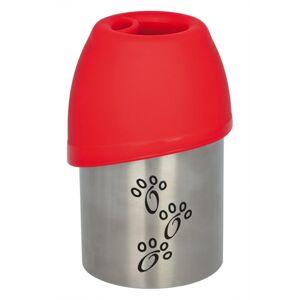 Trixie drinkfles rvs met plastic drinkbakje