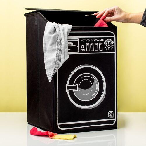 Invotis Wasmachine Wasmand - Zwart
